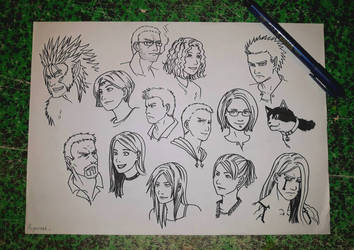 characters faces by chmartouf