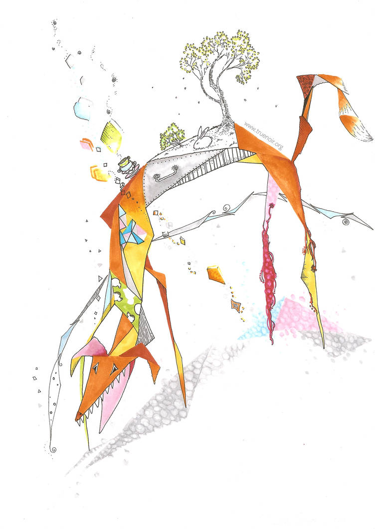 Trifox - original drawing by NoirArt