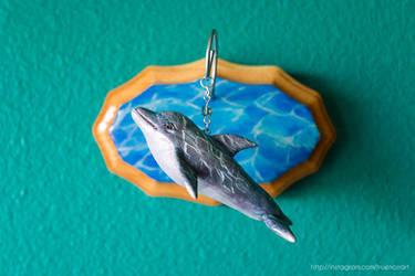 Dolphin wall sculpture, mixed media by NoirArt