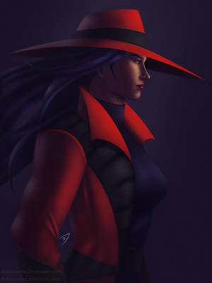 Carmen Sandiego Portrait by Dekamaster