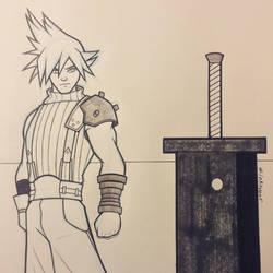 Inktober Day 6 - Sword by Dekamaster