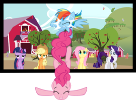 Pinkie Pie Breaking 4th Wall and RD Screen Crash by blazah99