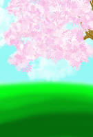 FREE-Flowering Tree Background by Magical-Mama
