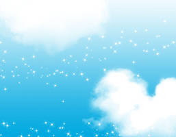 FREE: Sparkle Cloud Background by Magical-Mama