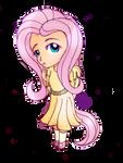 Chibi Fluttershy by 8BitGalaxy