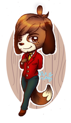 Digby [Animal Crossing] by 8BitGalaxy