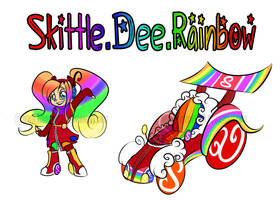 Sugar Rush OC Skittle Dee Rainbow by BlueKazenate