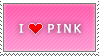 I Love Pink stamp by MixyStamps