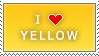 I Love Yellow stamp by MixyStamps