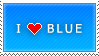 I Love Blue stamp by MixyStamps