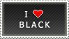 I Love Black stamp by MixyStamps