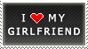 I Love My Girlfriend stamp by MixyStamps