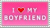 I Love My Boyfriend (pink) by MixyStamps