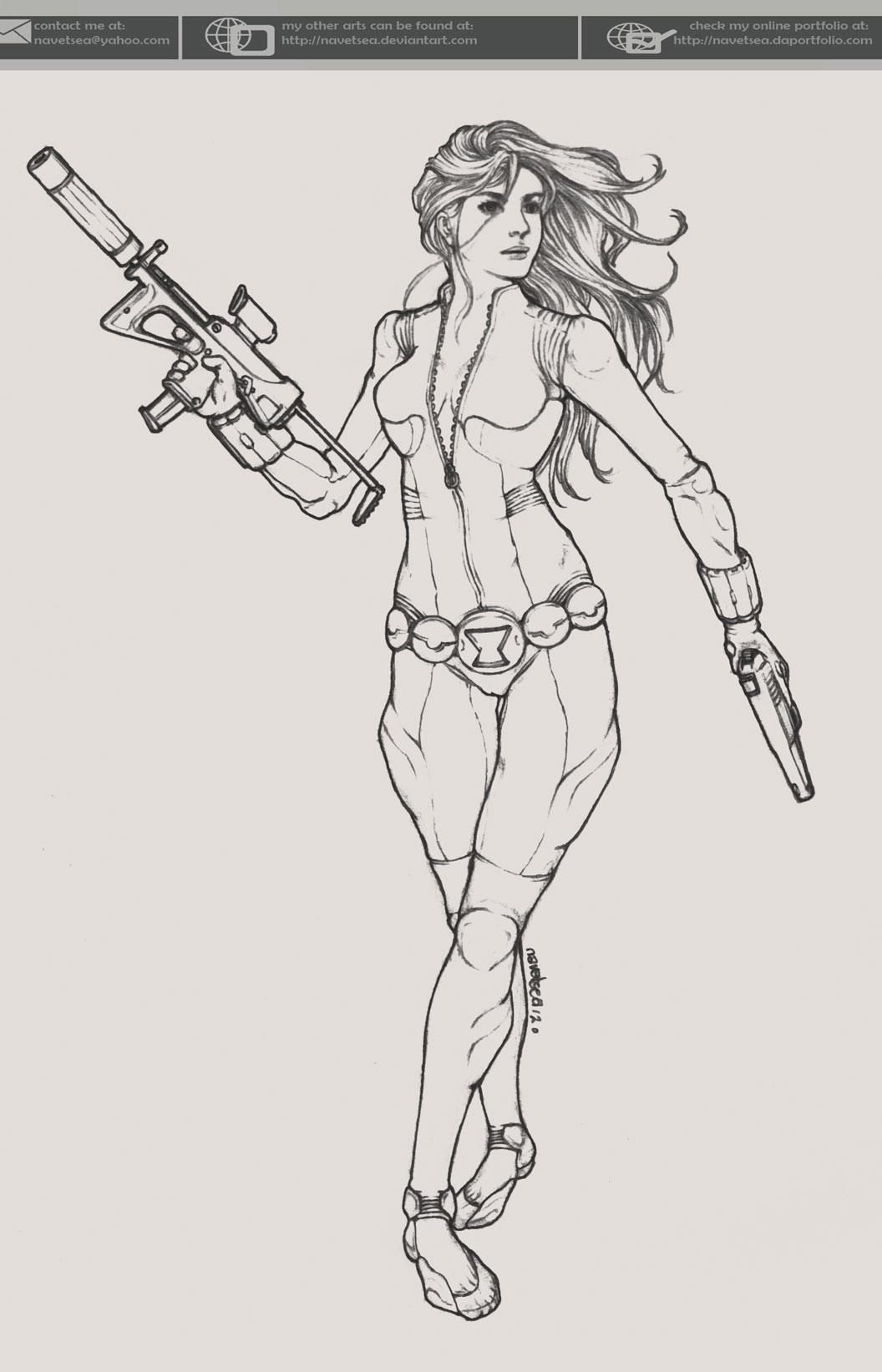 Black Widow sketch by Navetsea