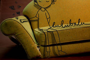yellow sofa by lubalubumba