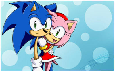 Sonic + Amy by BloomPhantom