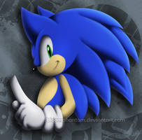 .:Sonic The Hedgehog:. by BloomPhantom