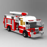 Brick Fire Engine by VanishingPointInc