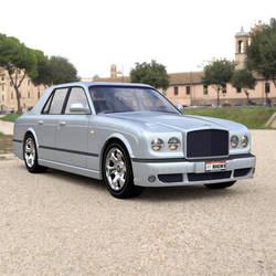 Bentley Arnage On a Road by VanishingPointInc