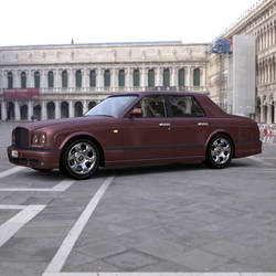 Bentley Arnage in a Courtyard by VanishingPointInc