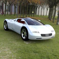 Audi Avus Quattro In a Field by VanishingPointInc