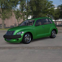 PT Cruiser In a Parking Lot by VanishingPointInc