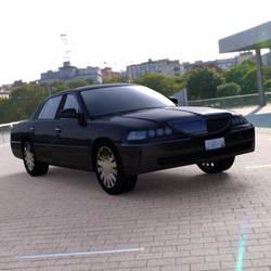 Luxury Sedan Car in a Parking Lot by VanishingPointInc