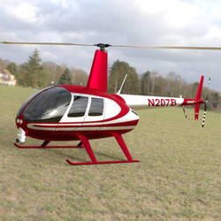 News Helicopter Landed in a Field by VanishingPointInc