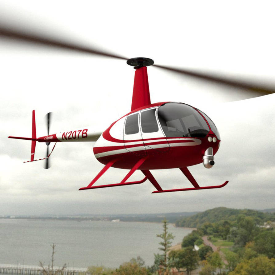 News Helicopter In Flight by VanishingPointInc