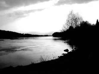 Kemi river in spring by Perifeerikko