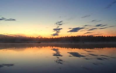 Summer night sunset in Lapland by Perifeerikko