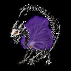 SkullWyvermon (Redraw) by Icedragon300