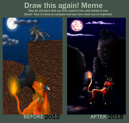 Draw this again Meme - Ascension to Cosmo Canyon by Icedragon300