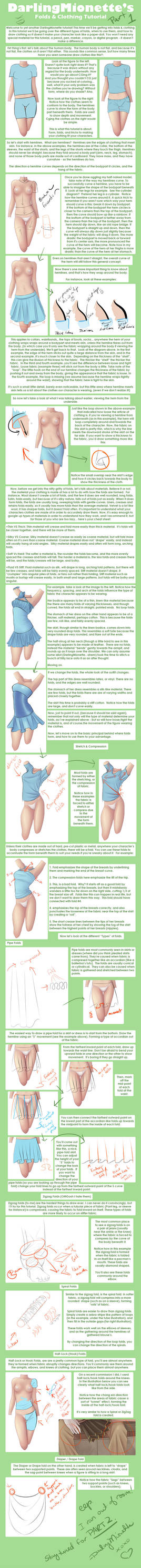 Tutorial - Clothing + Folds 1 by DarlingMionette