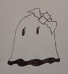 Inktober 2018 - mgoctober - 1 - Ghost by CyberPFalcon