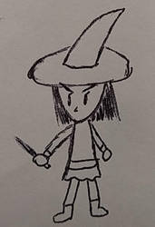 Inktober 2018 - mgoctober - 11 - Witch by CyberPFalcon