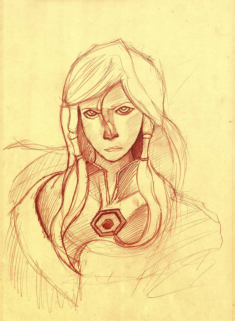 Another Korra Drawin (please full size + comment!) by Fonderia