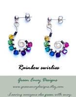 rainbow swirlies by EssiesJewels