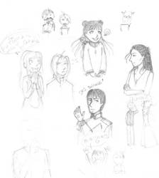 FMA sketches YAYZ. by elviella