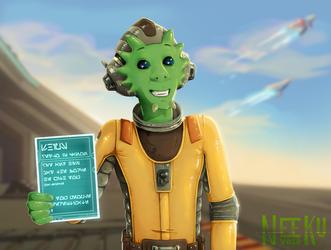 Neeku Vozo - fanart Star Wars RESISTANCE by Skydrathik