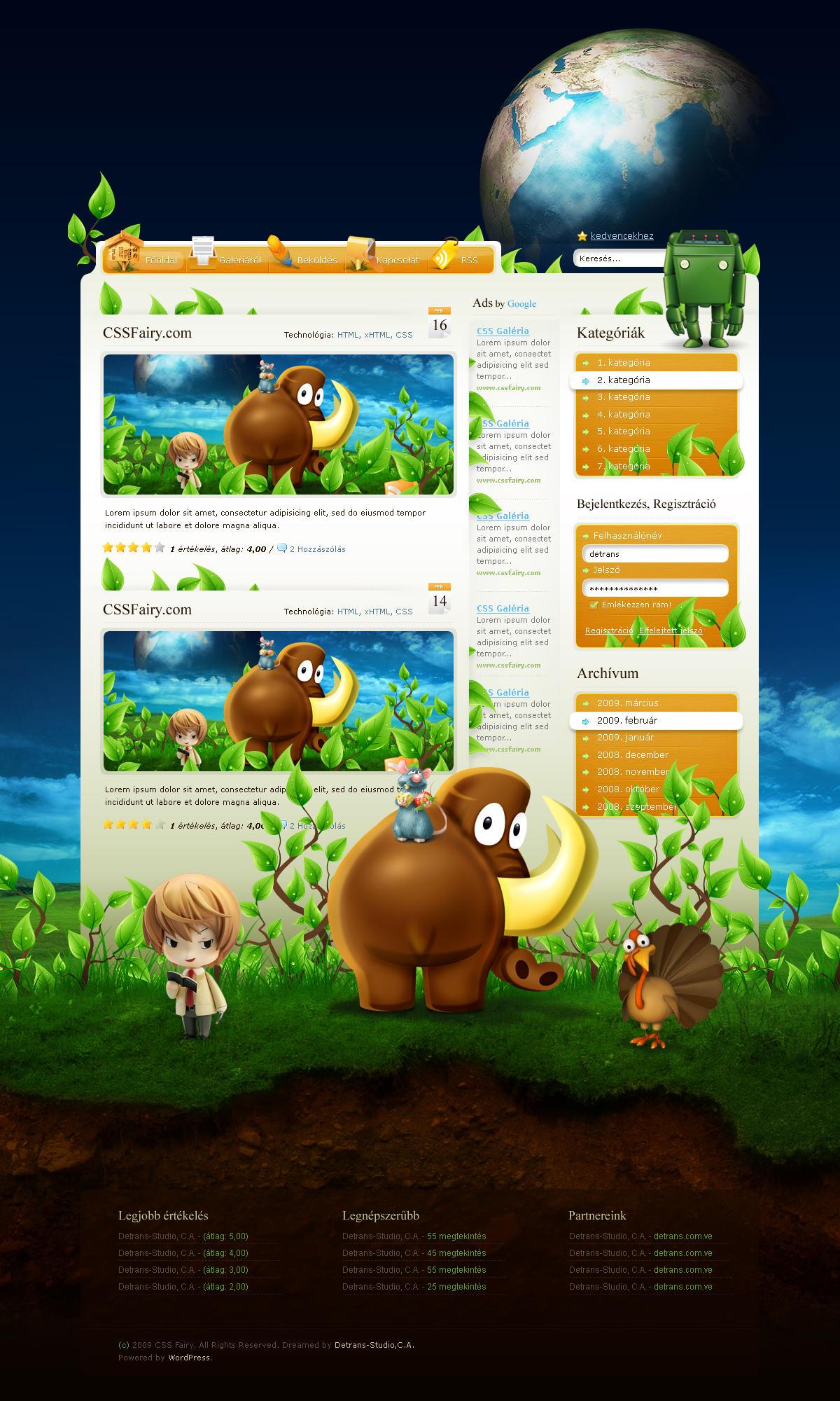 WordPress - Fairy Theme by detrans