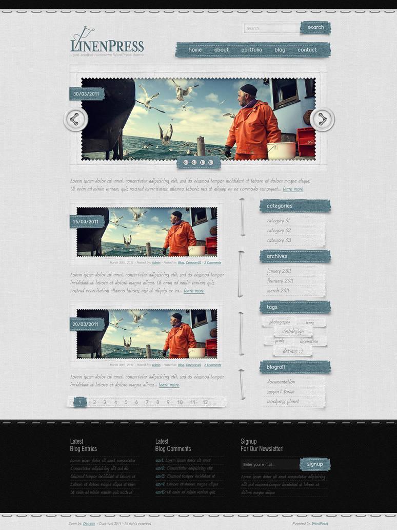 LinenPress - WordPress Theme by detrans
