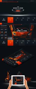 Lamborghini Aventador - Web Layout by detrans