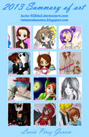 2013 Summary of art by Lucia-95RduS