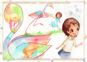 Children's illustration, sketches and pages (3/3) by Lucia-95RduS