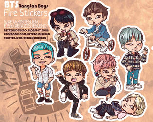 BTS | Bangtan Boys | Butterfly FIRE | STICKERS by Lucia-95RduS