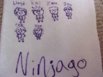 Napkin/Sharpie Doodles (Ninjago Edition) by colorgirl58