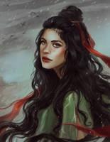 Red ribbon by VeraVoyna