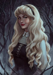Aurora (sleeping beauty) by VeraVoyna