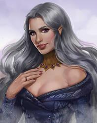 Comission Yulessa Ravenbeak by VeraVoyna